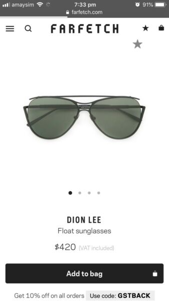 578c9be5d493 HOLIDAY SALE Dion Lee Sunglasses