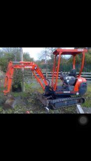 Wanted: Wanted Kubota mini excavator KX41-2V mini Digger Dingo Bobcat