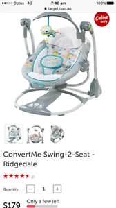 Ingenuity ConvertMe seat to swing Hawks Nest Great Lakes Area Preview