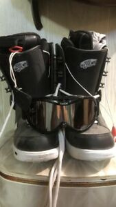 Snow Boarding Boots and Googles
