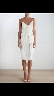 Zimmerman silk folded dress- pearl