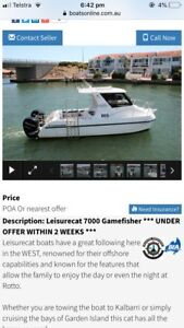 Wanted: Leasure cat 7 m wanted on alloy trailer