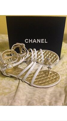New Authentic Chanel Gladiator Sandals size 38.5
