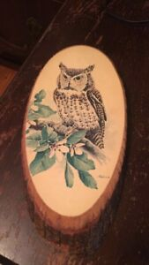 Hand painted canadian wood art