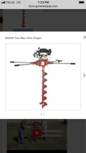 Two-Man Gas Post Hole Auger