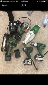 18v hitachi cordless brushless rattle gun grinder saw drill vaccuum Denman Muswellbrook Area Preview