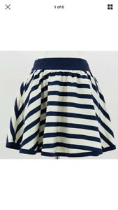 Ted Baker Purple Ivory Striped Mini Skirt Size 1