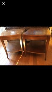 Antique solid wood end / side tables