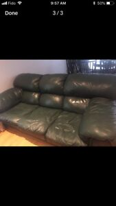 Sofa and love seat set all leather cheap $250