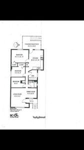 Top floor 2 bedroom and den for rent