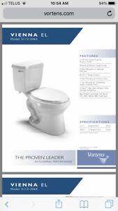 Vortens elongated bowl toilet