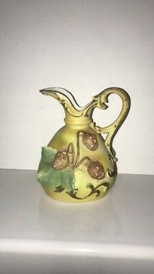 Early Victorian Stoneware Handmade Signed Pitcher
