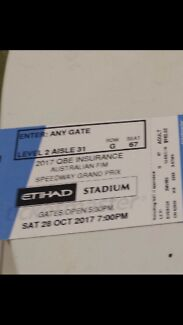 Speedway Grand Prix Tickets x2 @ Etihad Stadium Sat 28th