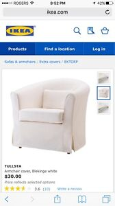 Tullsta ikea white chair covers x 2