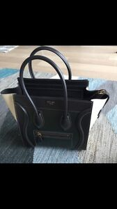 Celine luggage tote bag - micro in moss green