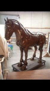 Oak Timber Horse / Unique Full Size Hand Carved. Mornington Mornington Peninsula Preview