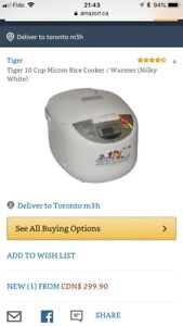Tiger 10cup Rice Cooker for Sale