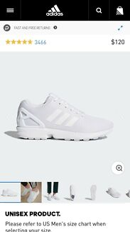 Adidas Original ZX Flux shoes: White Unisex