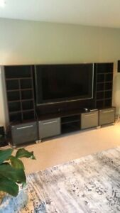 60 inch plasma tv and tv table/shelf