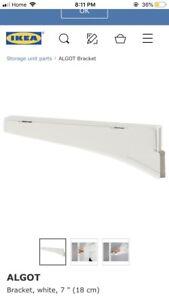 NEW IKEA Algot 18 cm Brackets (x4) White $5