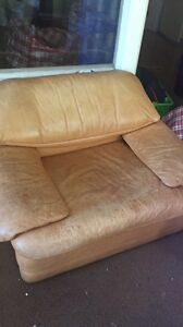 Free single leather sofa x2 St Ives Ku-ring-gai Area Preview