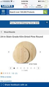 LOOKING FOR Round piece of wood