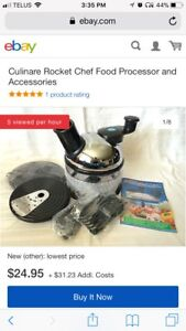 Rocket Chef Food Processor with accessories