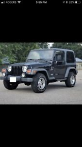 2001 JEEP TJ SPORT INLINE6 4L 5SPEED 4X4