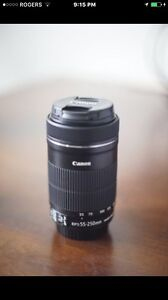 Canon 55-250mm f4-5.6 IS lens