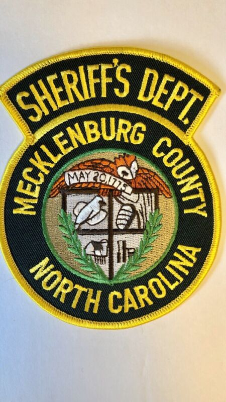 Mecklenburg County Sheriff's Dept Large Shoulder Patch Very Rare from 1987