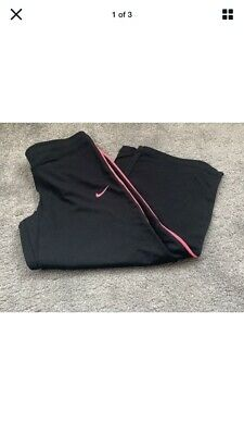 Nike Dri-Fit Cropped Black And Pink Workout Fitness :Yoga Leggings Size Small