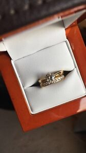 18kt gold & diamond solitaire engagement/wedding band set Sydney City Inner Sydney Preview