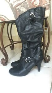 Faux Leather Knee High Boots Edmonton Edmonton Area image 1