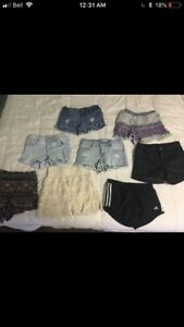 Shorts, shirts, jeans for sale