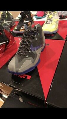 Nike Lebron 11 Terracotta Warrior Grey Purple Size 8 (Grey Warrior)