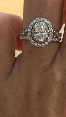 Neil Lane Oval Diamond Engagement Ring With Matching Band NEW Kay's $5599
