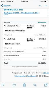 Burning man Tickets x2 with vehicle pass Canterbury Canterbury Area Preview