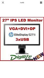 HP E271i 27 inch monitor Waratah West Newcastle Area Preview