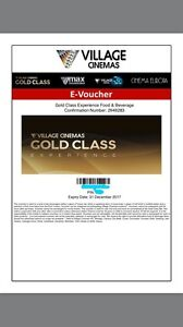 Gold class movie experience pack Berwick Casey Area Preview