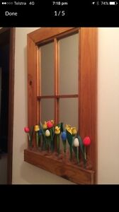Timber mirror wooden tulips home Deco Chipping Norton Liverpool Area Preview