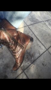 Steve Madden LEATHER Military Boots