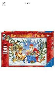Ravensburger Christmas puzzle Santa and His Pack 2011 XXL 100 pieces No. 106547 ()