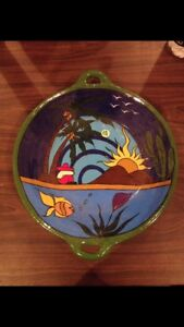 Serving dish handpainted from mexico