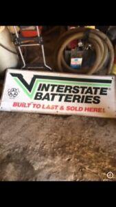 interstate batteries sign
