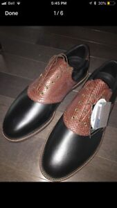 BRAND NEW REAL LEATHER REBOOK GOLF SHOES