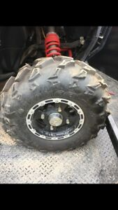 4 polaris rims and tires for sportsman/rzr 12""