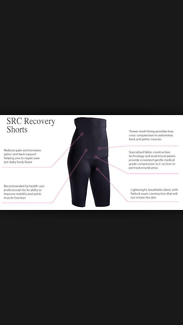 SRC recovery post pregnancy shorts