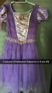 Costume Halloween Raiponce 3-4 ans