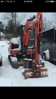 Excavation services for hire