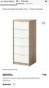 IKEA Chest of 5 drawers